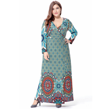 Women Long Sleeve Long Dress Plus Size Maxi / Long Casual Abaya Turkish Ethnic dress