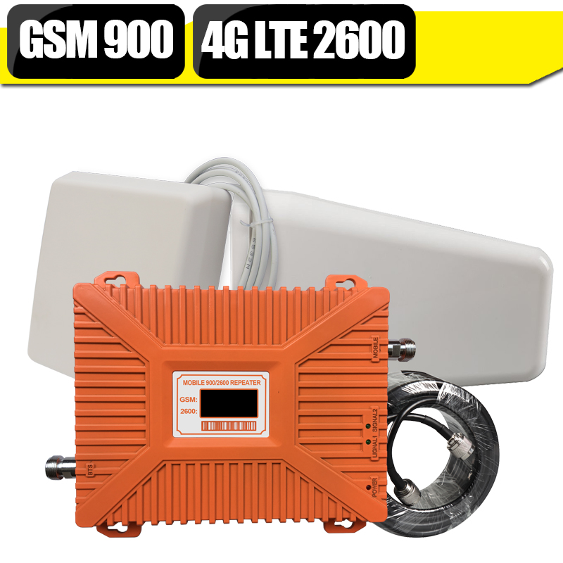 GSM 900 4G LTE 2600 Cell Phone Signal Booster 4G LTE Mobile Repeater Cellular Amplifier LPDA