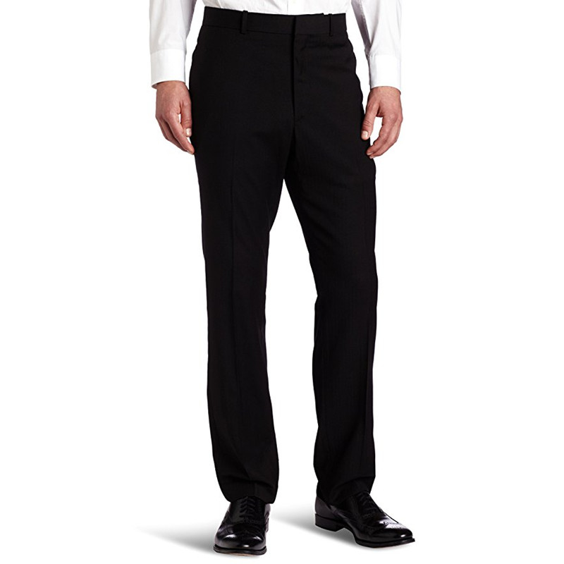 Custom Made New Black Formal Wedding Suit Pants Men s Solid herringbone Slim Fit Dress Pants