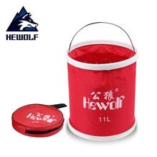 ФОТО 11l outdoor folding bucket paint bucket folding bucket portable camping hiking fishing bucket cleaning vehicle tool