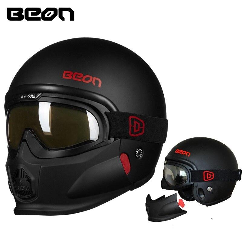 Beon Moto casco Aperto del Viso Modulare Caschi Moto Casque Casco Motociclo Capacete Caschi con googles mento