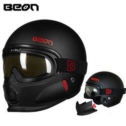 Beon motocykl modułowy 3/4 kask otwarta twarz kaski motocyklowe Casque Casco Motocicleta Capacete kaski