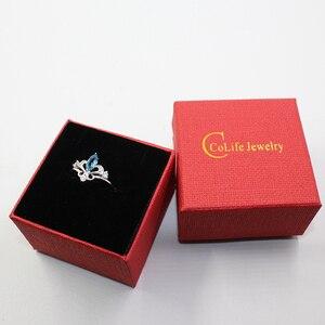 Image 5 - Anillo de compromiso de corona de plata 925 auténtica de 100%, anillo de topacio natural de 4 mm X 8mm, anillo de topacio de plata 925 sólido, regalo para niña