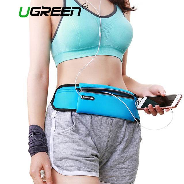 Ugreen Sport Running Waist Pack Waterproof Belt Adjustable Bag Nylon Pouch Mobile Phone Hold for iPhone 6s 6 5s 5 Samsung HTC LG