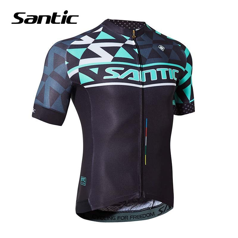 Santic Summer Road Mountain Bike Jersey Men Short Sleeve Cycling Jersey 2019 Ultralight Breathable Bicycle Clothing