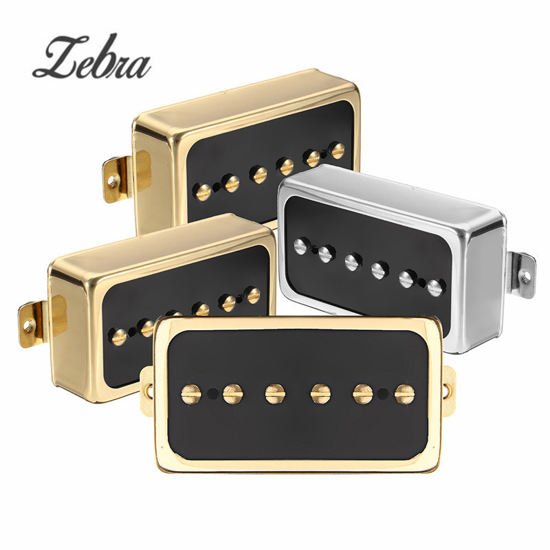 Zebra 1PCS Vintage Alnico V Soapbar P90 Electric Guitar Neck Bridge Pickup Humbucker For Musical Instruments Parts Accessories belcat electric guitar pickups humbucker alnico 5 humbucking bridge neck chrome double coil pickup guitar parts accessories
