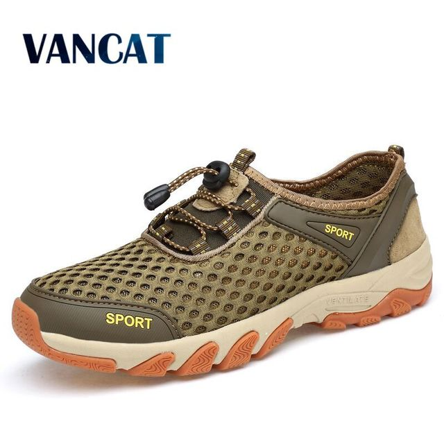 2019 New Comfortable Men's Shoes Summer Breathable mesh Outdoor Sneakers For Spring Men Flat Shoes Comfortable Casual Shoes