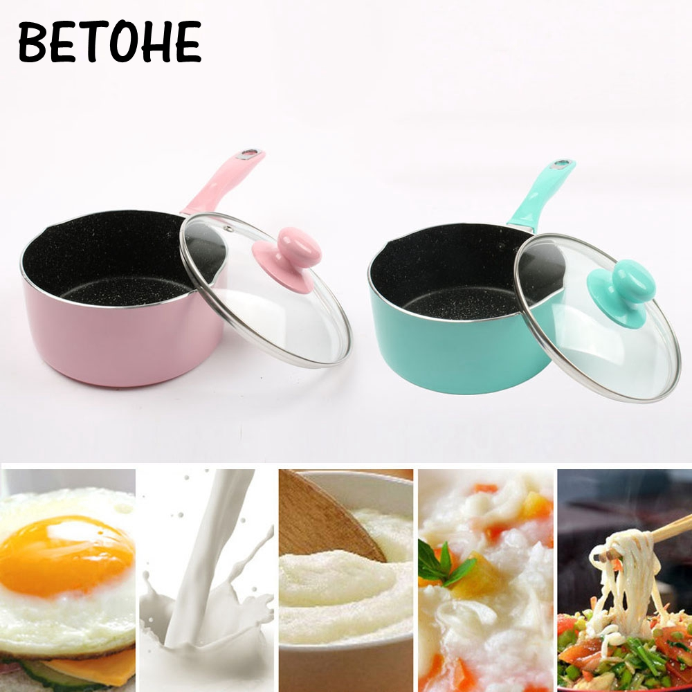 16cm Portable Mini Milk Pot Nonstick Cooking Pot Of Hot Milk Baby Food Supplement Fried Eggs pot Kitchen Practical Cooking Tool