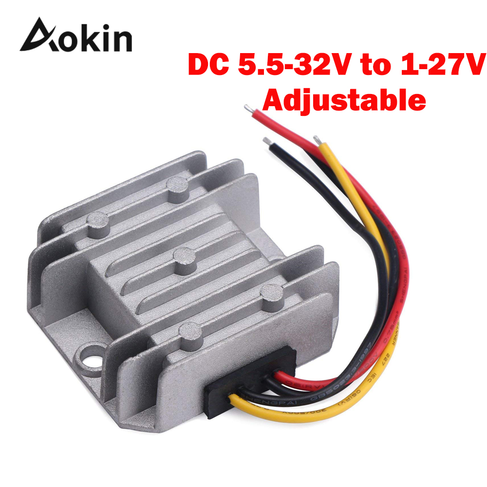 24V to 12V to 5V 5A Volt Regulator Waterproof Synchronous DC-DC Converter Buck 5.5-32V to 1-27V Voltage Regulator Adjustable24V to 12V to 5V 5A Volt Regulator Waterproof Synchronous DC-DC Converter Buck 5.5-32V to 1-27V Voltage Regulator Adjustable