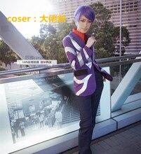 Tokyo Ghoul Shuu Tsukiyama Purple Cosplay Costume Suit man Blazer suit jacket New Tokyo Ghouls Shuu Tsukiyama MR MM purple suit