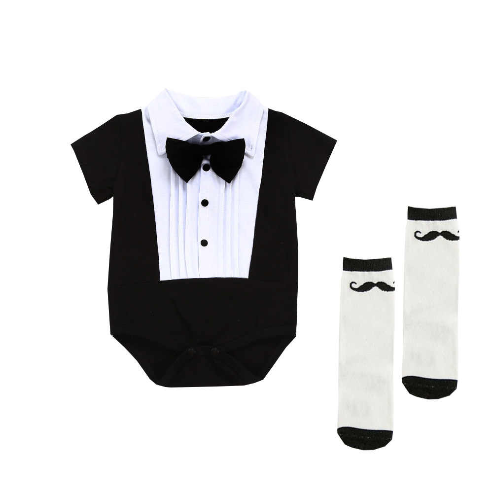 4252dba4a7b0 Detail Feedback Questions about Infant Formal Bow Tie Suits Newborn ...