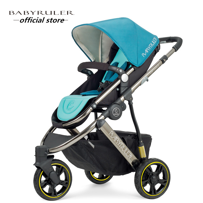 Hot sell Ultra light baby stroller  and High landscope  Portable and fashion to travel hot hot sale baby stroller travel system baby wholesale and retail modern stroller red and green color pram is pneumatic tyre
