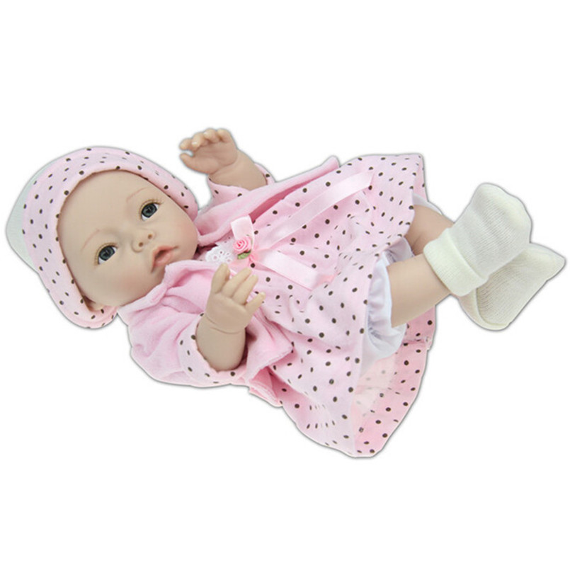 NPK Brand Doll Silicone Reborn Dolls 35 cm/14'', Lifelike Baby Reborn Toys for Children's Birthday Gift Free Shipping карандаш для губ make up factory make up factory ma120lwmqv75