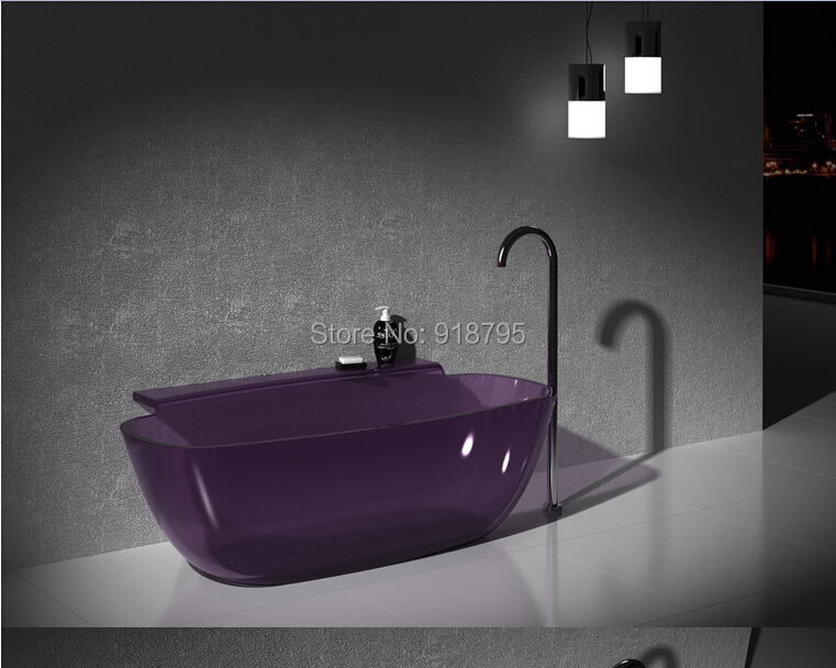 1580x820x600mm New Design Resin Acrylic Bathtub Colored Freestanding Rectangular CUPC Approved Tub RS6576