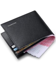 Image 4 - WilliamPOLO portefeuilles de marque de luxe pour hommes, 100% en cuir de vache court, à deux volets, Mini cuir véritable, porte cartes, fentes, petit format portable