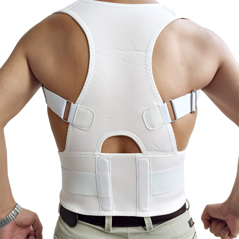 Male Female Adjustable Magnetic Posture Corrector Corset Back Men Brace Back Belt Lumbar Support Straight Christmas Gift M-XL