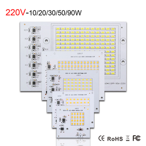 Image 3 - Smart IC LED Lamp AC 220V 90W 50W 30W 20W 10W High Lumen SMD 5730 COB Chip With Driver LED Floodlight Outdoor Street Spotlight