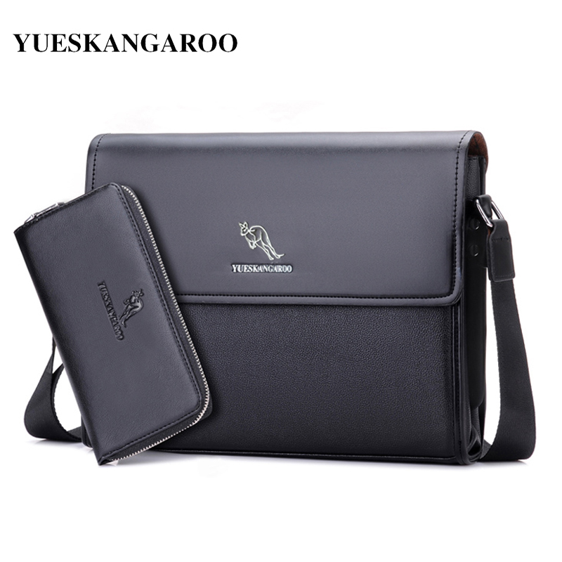 YUES KANGAROO Brand nahka miesten laukku Business olkalaukku rento miesten Crossbody Messenger Bag A4-asiakirjan salkku bolsa