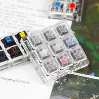 9 Cherry MX Switches Keyboard Tester Kit Clear Keycaps Sampler PCB Mechanical Keyboard Translucent Keycaps Testing Tool o-ring