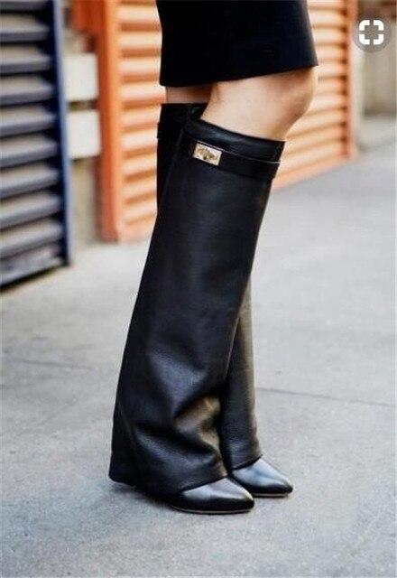 Hautes Chaussures Noires Chevaliers Britanniques POlUEz9