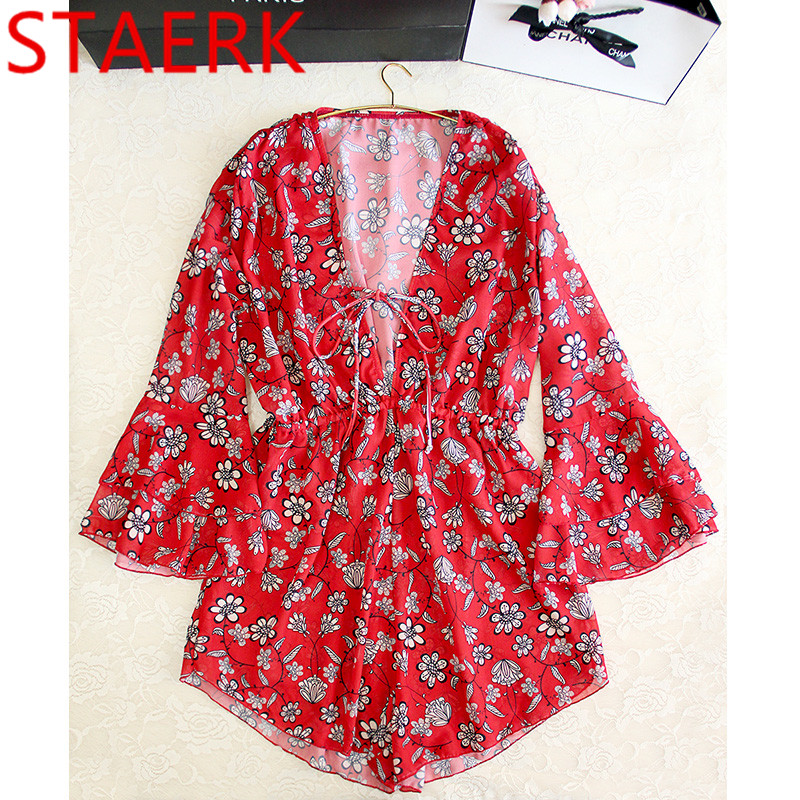 STAERK red swimsuit women's sets south Korea hot springs bikini sexy gathered skirt conservative cover belly holiday swimsuit недорого