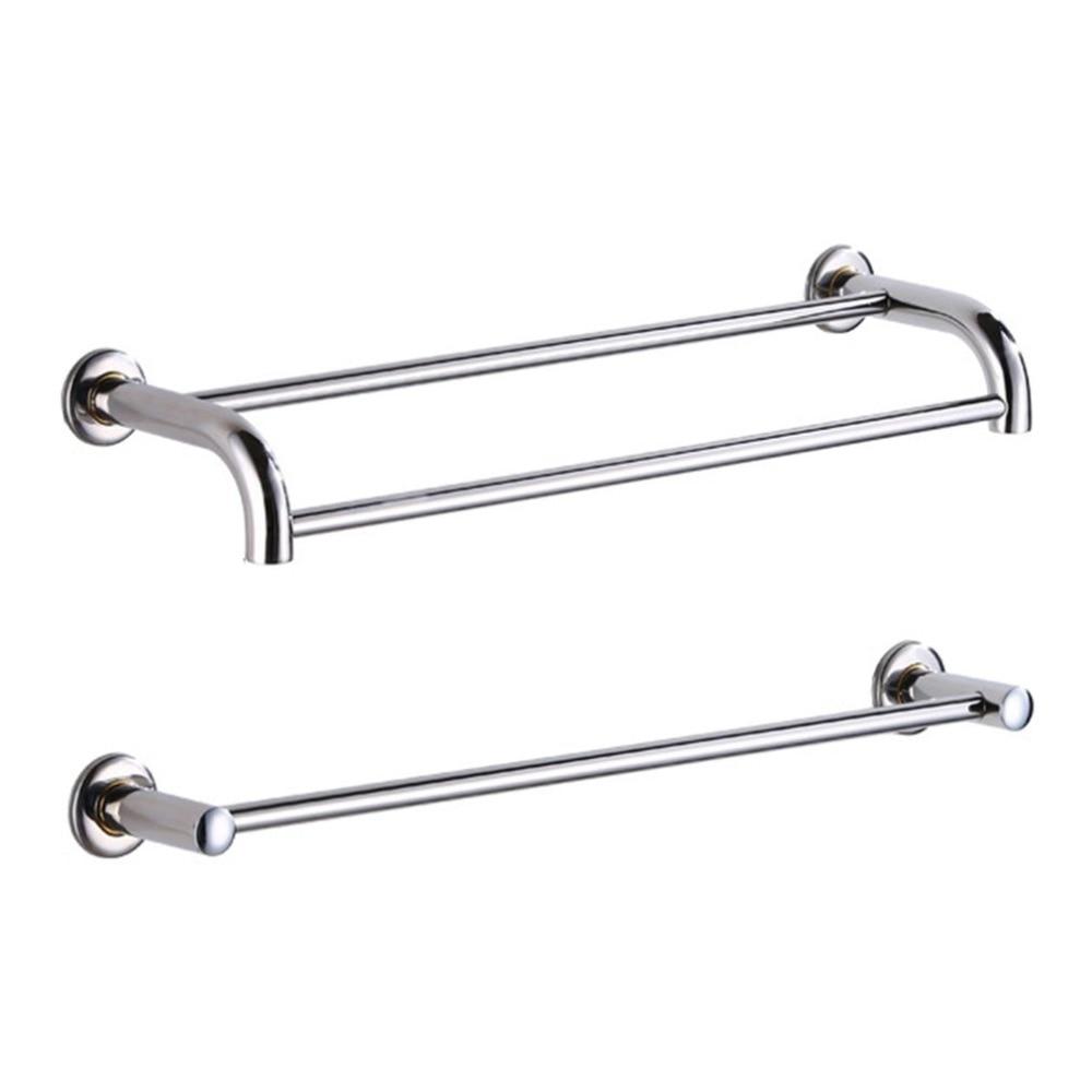 Multifunctional Stainless Steel Anti-rust Towel Rack Toilet Bathroom Washroom Storage Rack Holder Household Hanging Bar Rod