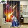 MYRU крутая 3D печать планеты Водонепроницаемая занавеска для душа Полиэстеровая занавеска для душа уникальная занавеска для душа для ванной ...