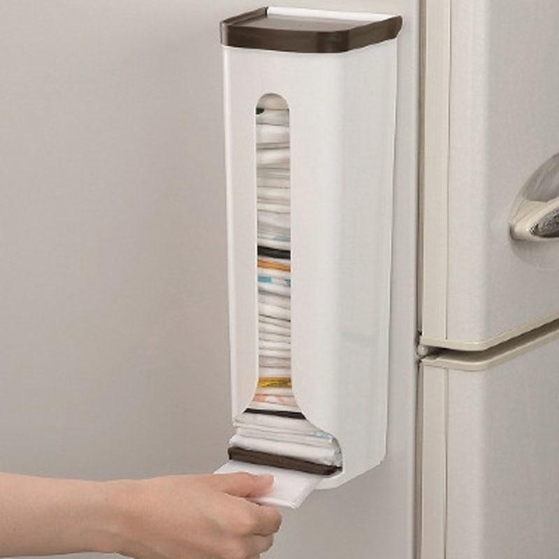 New Kitchen Organizer Portable Home Storage Racks Plastic Storage Box Wall Hanging Bathroom Garbage Bags Holders Racks