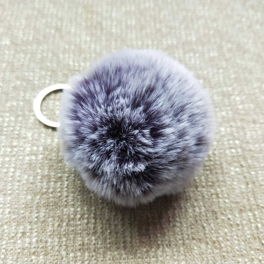 Cores Chaveiro 8 20 cm Fake Fur Bola Chaveiro Chaveiros Chaveiro De Pele Pele Pele Pompom Pom Pom Keychain Chave cadeias de Jóias Presente