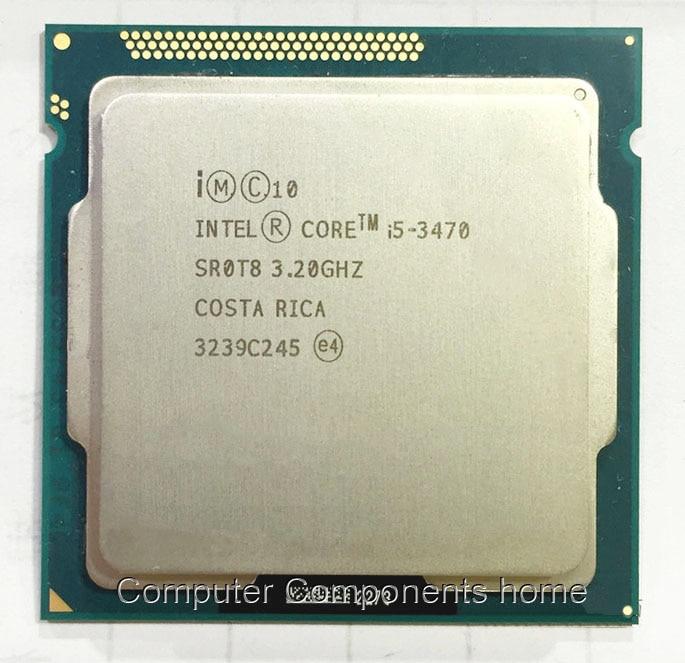Processeur de bureau d'origine intel Core I5 3470 I5 3470 3.2GHz Quad-Core LGA 1155 L3 Cache 6 mo