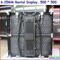 Exibição de aluguer p6.25 die fundição de alumínio, 500mm * 500mm design, super leve, p6 smd tela led de aluguer de alta difinition
