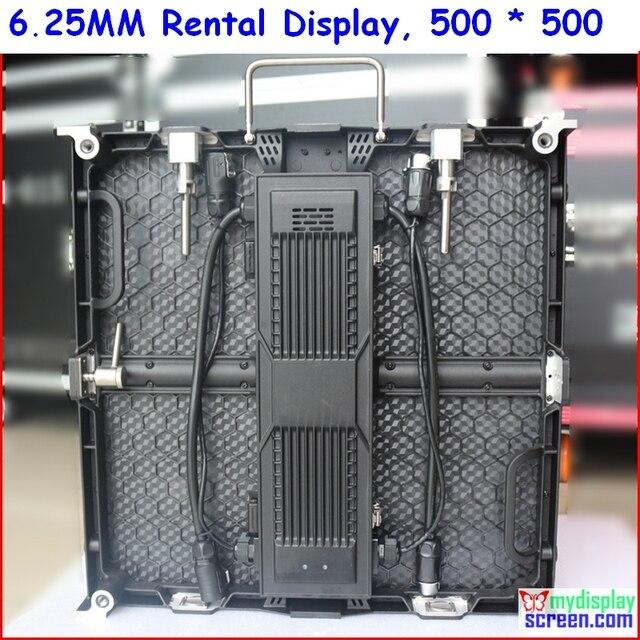 P6.25 литья алюминия прокат дисплей, 500 мм * 500 мм дизайн, супер свет, p6 smd высокой difinition аренда светодиодного экрана