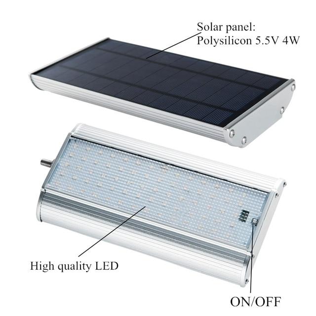 70 LED Solar Street Light With Remote Controller 5 Modes Motion Sensor Street Lamp  Waterproof Super Bright Solar Garden Light 4