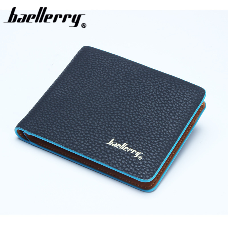 Fashion New Order Men Student Wallets Leisure 3 Fold Litchi Texture Horizontal Wertical Credit Card Holder Wallet Free Shipping new order new order music complete 2 lp