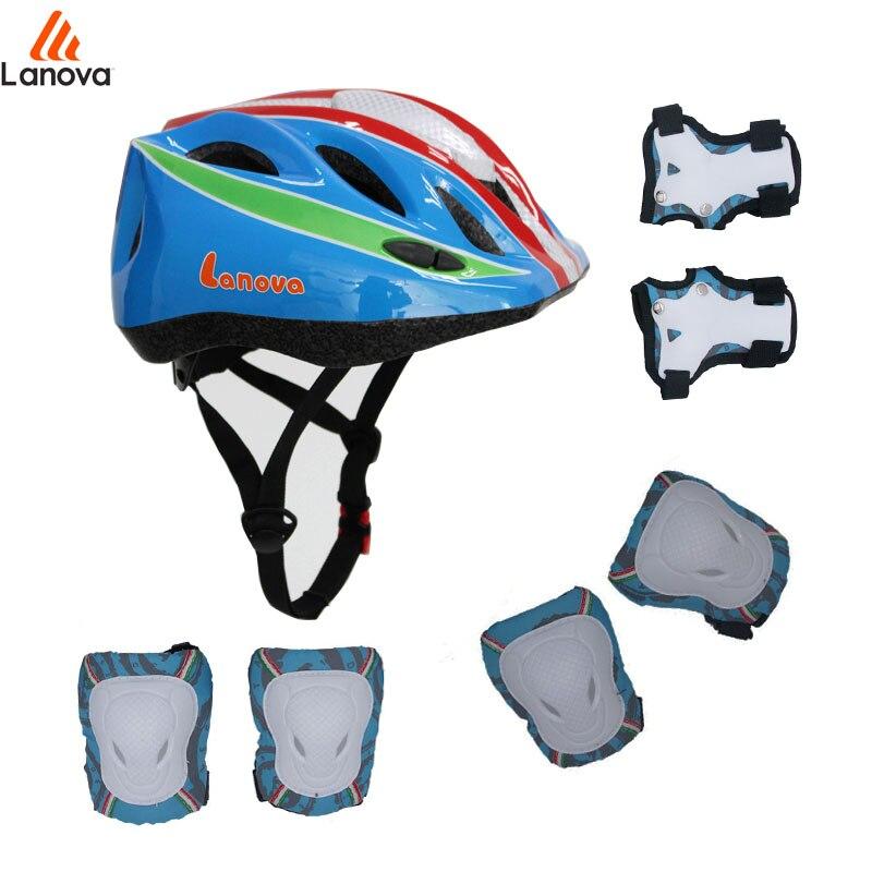 LANOVA 7Pcs / set Cykling Skridsko Skateboard Protector Hjälm Elbow - Sportkläder och accessoarer