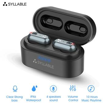 SYLLABLE S101 Strong bass TWS wireless headset noise reduction for music QCC3020 Chip of SYLLABLE S101 wireless sport Earphones