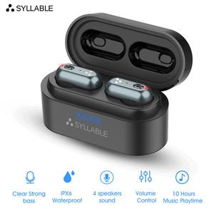 SYLLABLE S101 Strong bass TWS wireless headset noise reduction for music QCC3020 Chip of SYLLABLE S101 wireless sport Earphones(China)