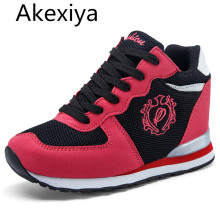 Akexiya High Heel Women Valentine Shoe Platform Basket Femme 2017 Tenis Feminino Casual Krasovki For Adult Female Wedge Girl Gym