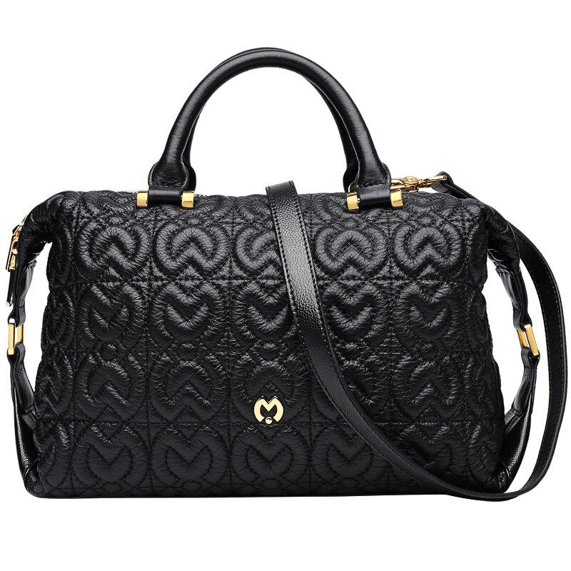 Luxury Brand women leather bags designer cowhide shoulder bag elegant genuine leather bag #BC123 luxury designer genuine leather pearl studded padlock bag women shoulder bag