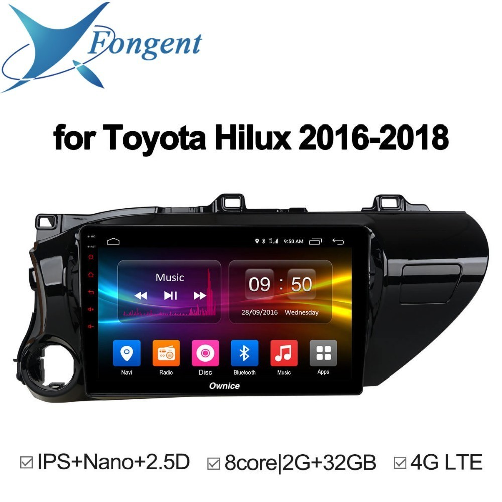 for TOYOTA Hilux 2016 2017 2018 Android Unit Car DVD Video Radio Player Multimedia GPS Nav