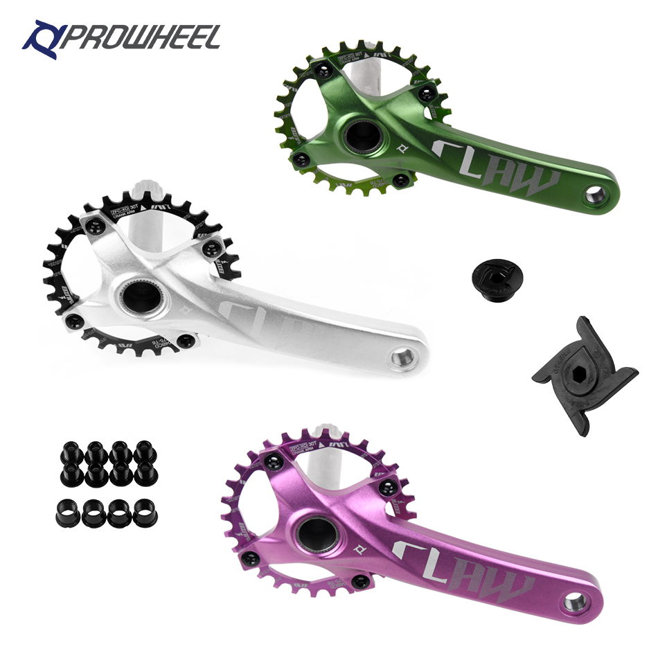 Prowheel 104 BCD mtb Bicycle Crankset Chainrings 170mm 30 32 34 36 38T Round Sprocket Mountain