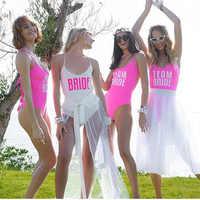 Thong padded Sexy One Piece Swimsuit Solid Female Women Fused Swimwear Backless White Brazilian Bather Monokini Bride Bikini