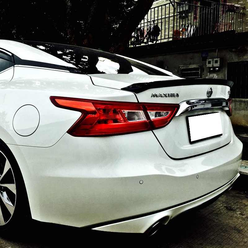 new design for Nissan Maxima spoiler 2016 2017 2018 year by DIY paint color  primer rear trunk roof spoiler by high quality ABS