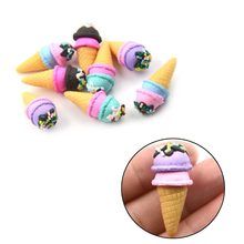 Hot Sale 2Pcs Multicolored Dollhouse DIY Miniature Ice Creams 1:6 Scale Model(China)