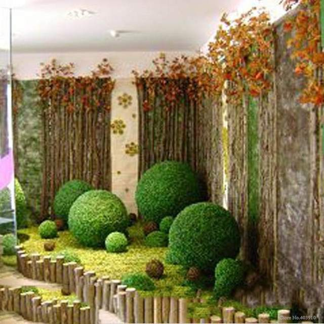 1pcs Large Green Artificial Plant Ball Topiary Tree Boxwood Wedding Party Home Outdoor Decoration Plants Plastic