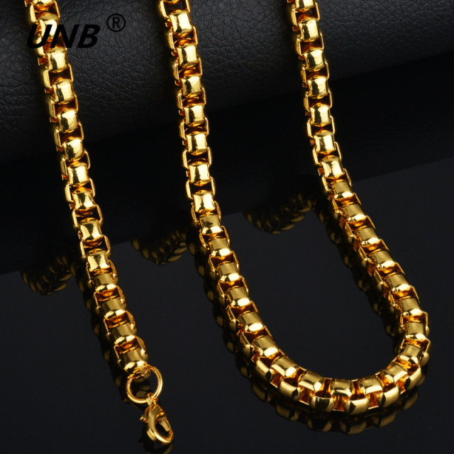 2017 Fashion Friendship Thick Gold Chain Necklace Male New 70CM