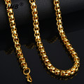 Fashion Friendship Thick Gold Chain Necklace Male, New 70CM Long Mens Gold Chain 18K Real Gold Plated, Brand Jewelry Hot Sale