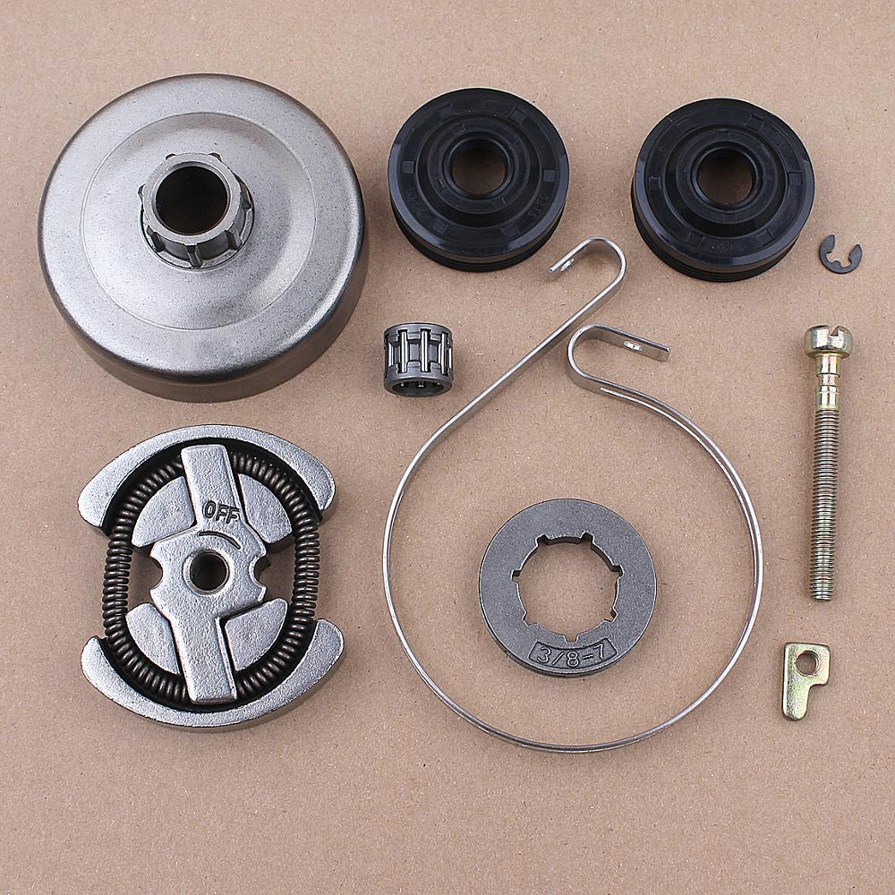 Clutch Drum 3/8 7T Sprocket Rim Kit For Partner 420 390 350 351 352 370 371  Oil Seal Chain Brake Band Chainsaw Parts