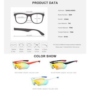 Image 5 - TR90 polarize spor erkek güneş gözlüğü yüksek kaliteli güneş gözlüğü kadın 2019 yeni miyopi reçete gözlük Shades 5 Lens 3204