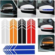 2PCS Vinyl Rearview Mirror Car Sticker Racing Stripe Decal For Mercedes-Benz